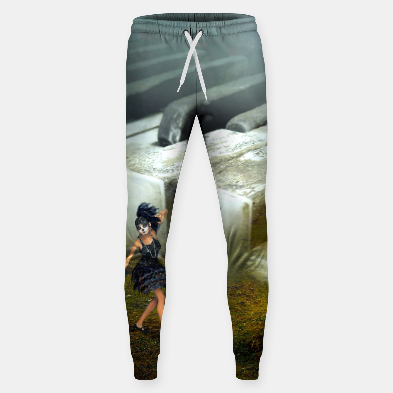 Image of The Piano - Fantasy Fairy Tales Cotton sweatpants - Live Heroes