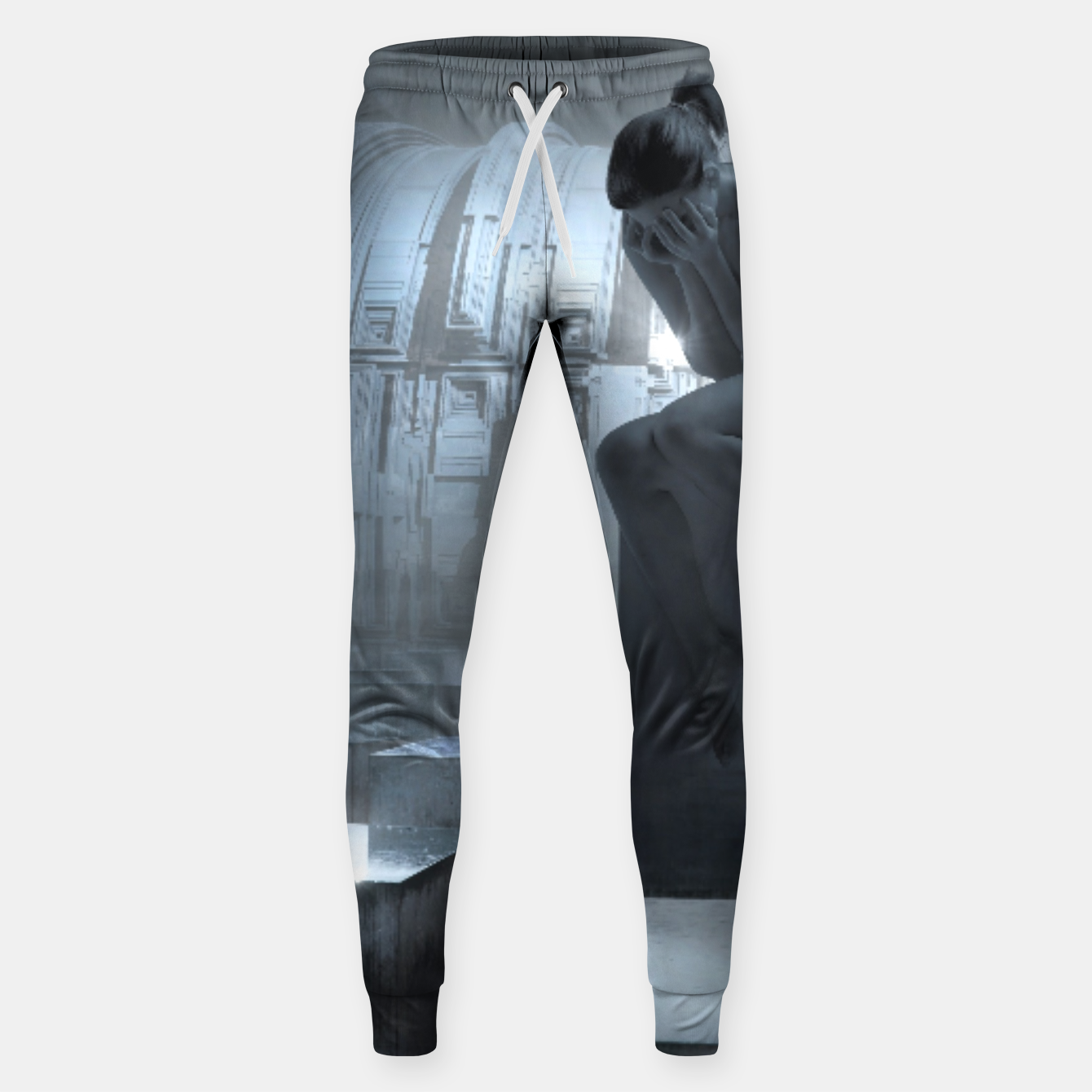 Image of The Sad Statue - Fantasy Fairy Tales Cotton sweatpants - Live Heroes