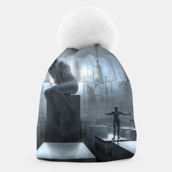 The Sad Statue - Fantasy Fairy Tales Beanie thumbnail image