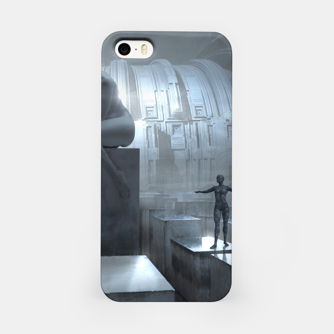 Image of The Sad Statue - Fantasy Fairy Tales iPhone Case - Live Heroes