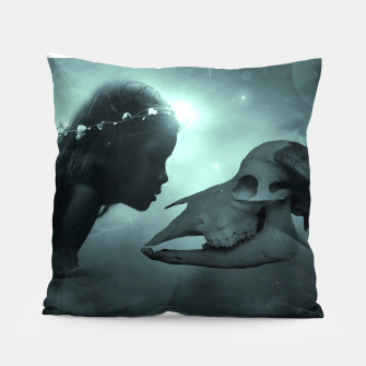 The Beauty and the Beast - Fantasy Fairy Tales Pillow thumbnail image