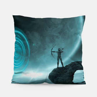 The Archer - Fantasy Fairy Tales Pillow thumbnail image