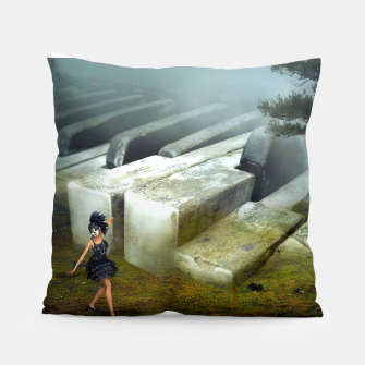 The Piano - Fantasy Fairy Tales Pillow thumbnail image