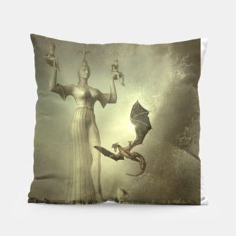The Mother of Dragons - Fantasy Fairy Tales Pillow thumbnail image