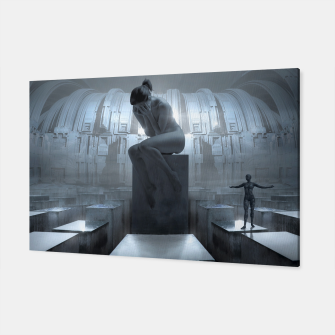 The Sad Statue - Fantasy Fairy Tales Canvas thumbnail image