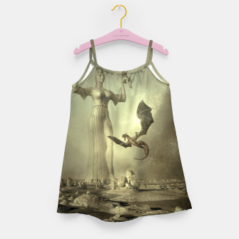 Thumbnail image of The Mother of Dragons - Fantasy Fairy Tales Girl's dress, Live Heroes