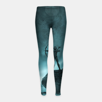Thumbnail image of The Archer - Fantasy Fairy Tales Girl's leggings, Live Heroes