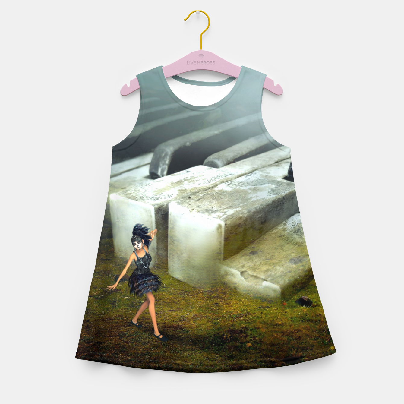 Image of The Piano - Fantasy Fairy Tales Girl's summer dress - Live Heroes