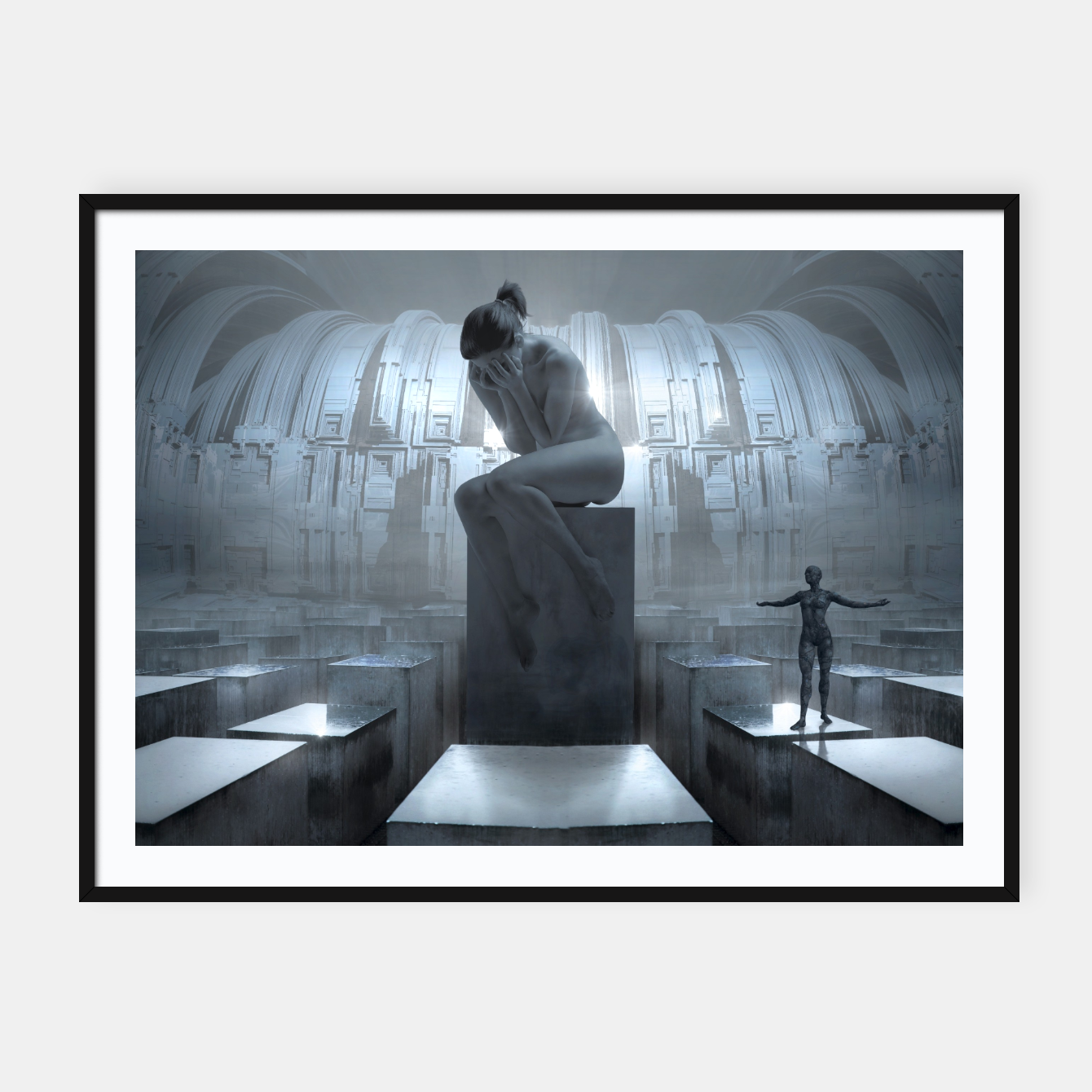 Image of The Sad Statue - Fantasy Fairy Tales Framed poster - Live Heroes