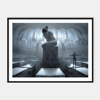 The Sad Statue - Fantasy Fairy Tales Framed poster thumbnail image
