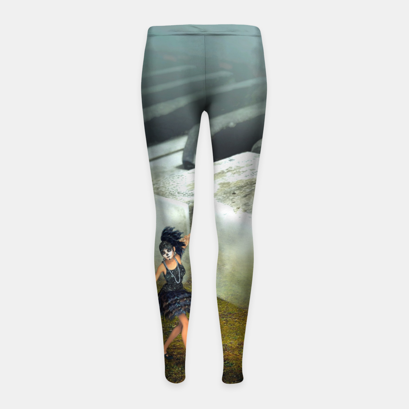 Image of The Piano - Fantasy Fairy Tales Girl's leggings - Live Heroes