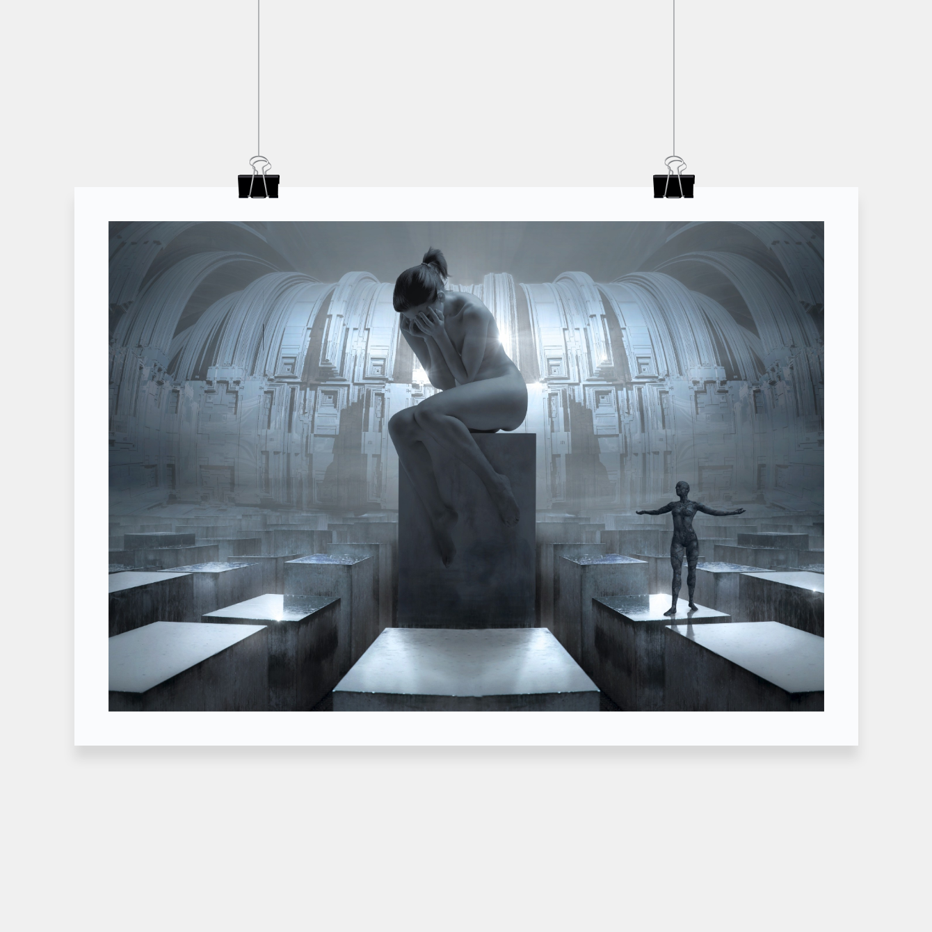 Image of The Sad Statue - Fantasy Fairy Tales Poster - Live Heroes