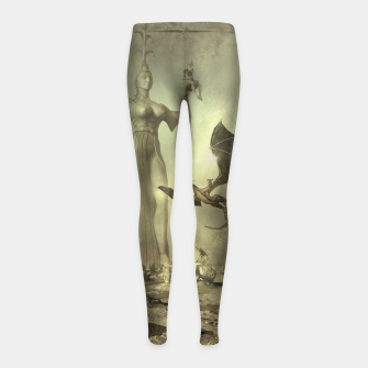 Thumbnail image of The Mother of Dragons - Fantasy Fairy Tales Girl's leggings, Live Heroes