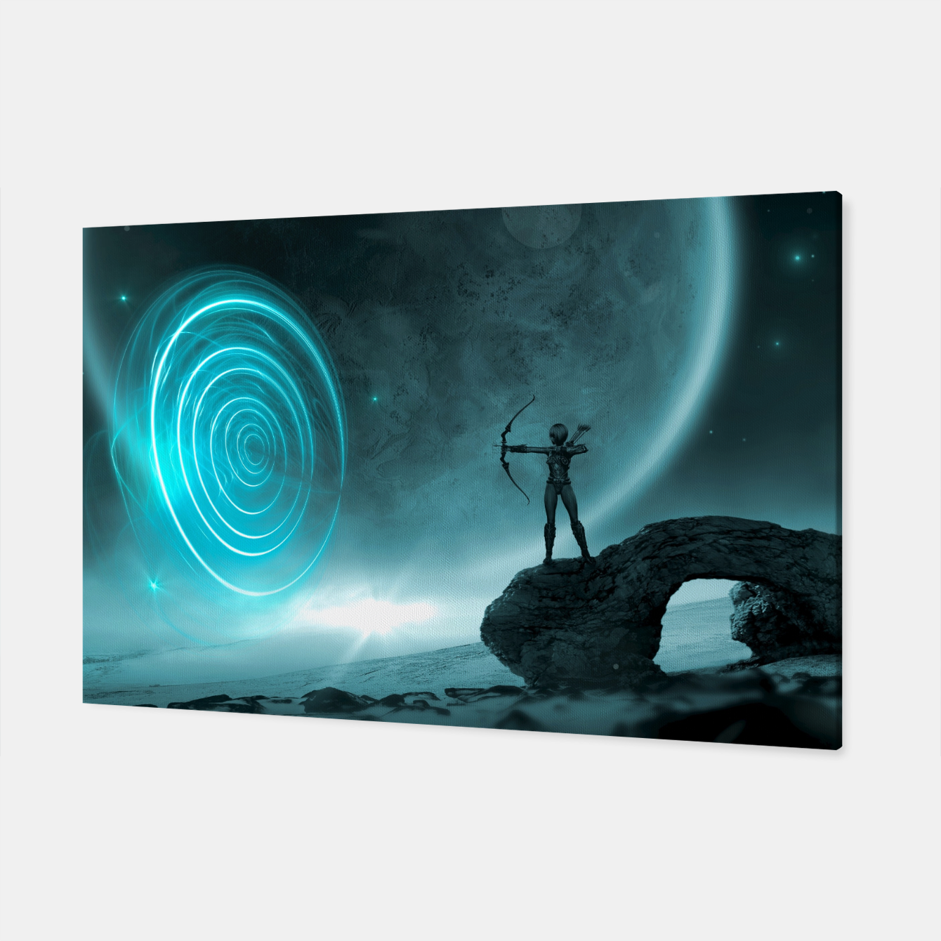 Image of The Archer - Fantasy Fairy Tales Canvas - Live Heroes