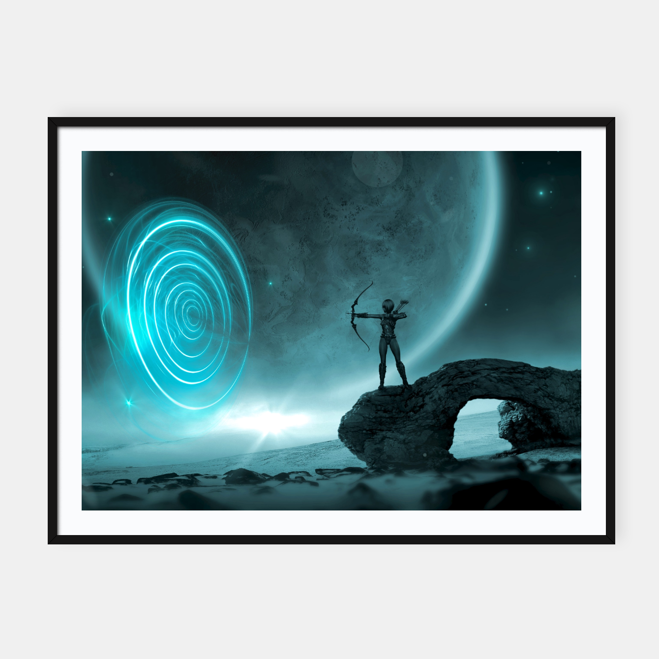 Image of The Archer - Fantasy Fairy Tales Framed poster - Live Heroes