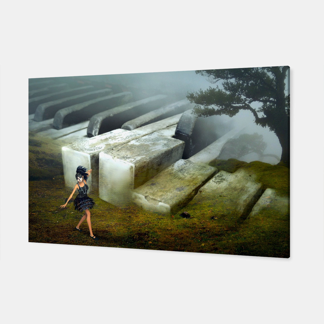 Image of The Piano - Fantasy Fairy Tales Canvas - Live Heroes