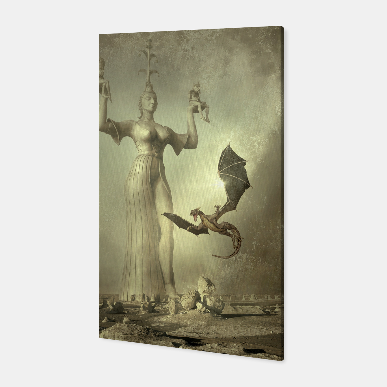 Image of The Mother of Dragons - Fantasy Fairy Tales Canvas - Live Heroes