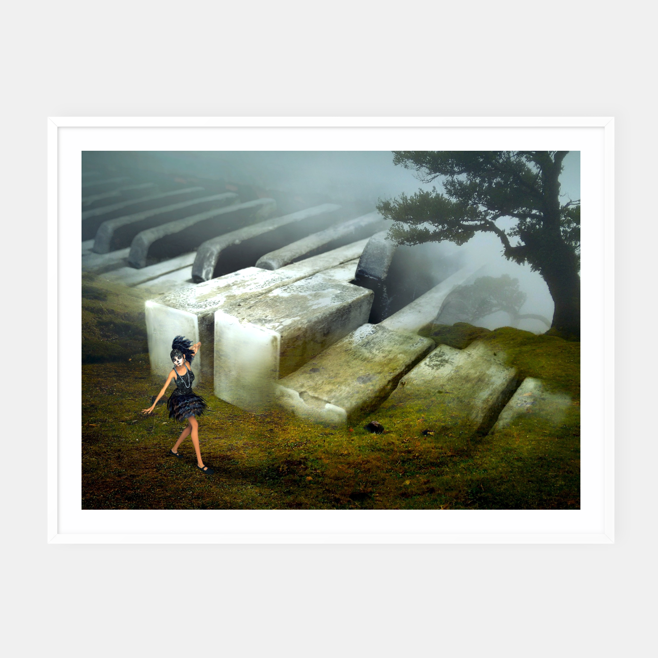 Image of The Piano - Fantasy Fairy Tales Framed poster - Live Heroes