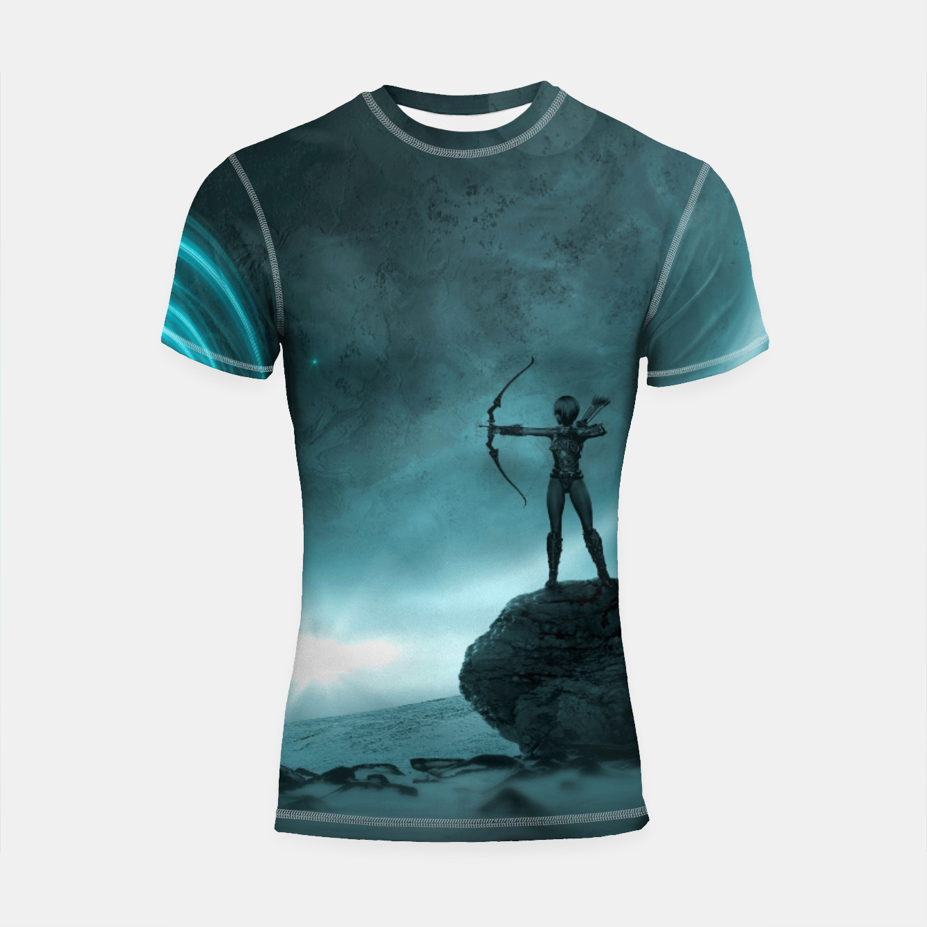 Image of The Archer - Fantasy Fairy Tales Shortsleeve rashguard - Live Heroes