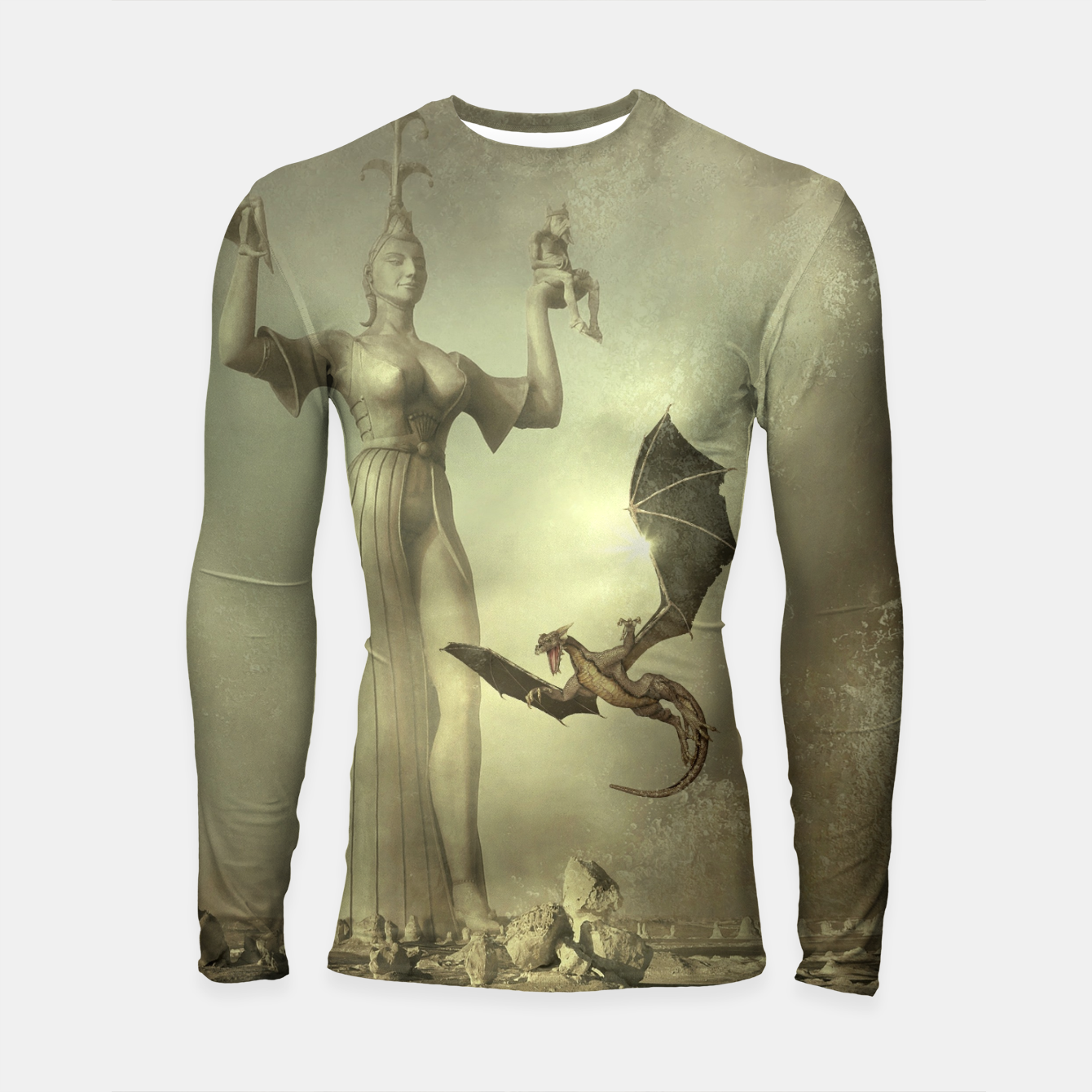 Image of The Mother of Dragons - Fantasy Fairy Tales Longsleeve rashguard  - Live Heroes