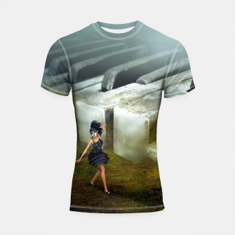 Thumbnail image of The Piano - Fantasy Fairy Tales Shortsleeve rashguard, Live Heroes