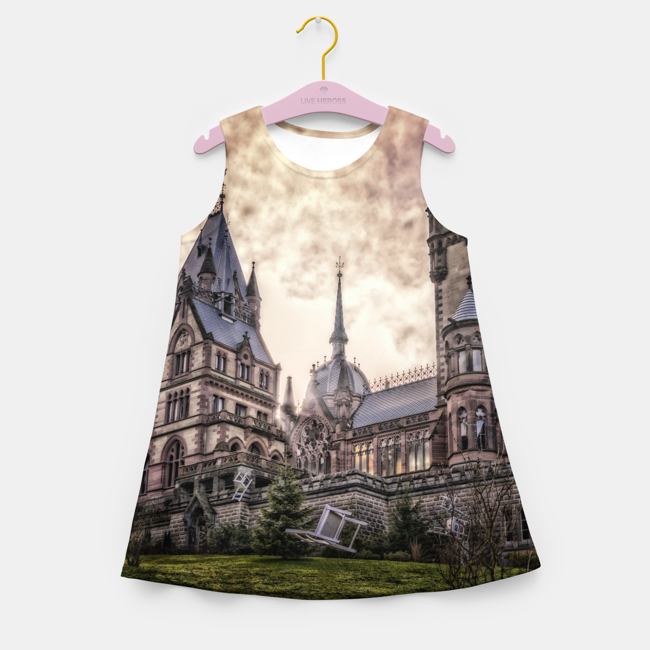 Image of Magic Musical Chairs - Fantasy Fairy Tales Girl's summer dress - Live Heroes