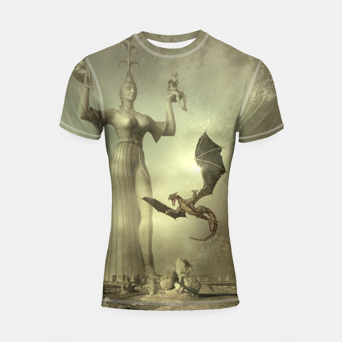 Image of The Mother of Dragons - Fantasy Fairy Tales Shortsleeve rashguard - Live Heroes