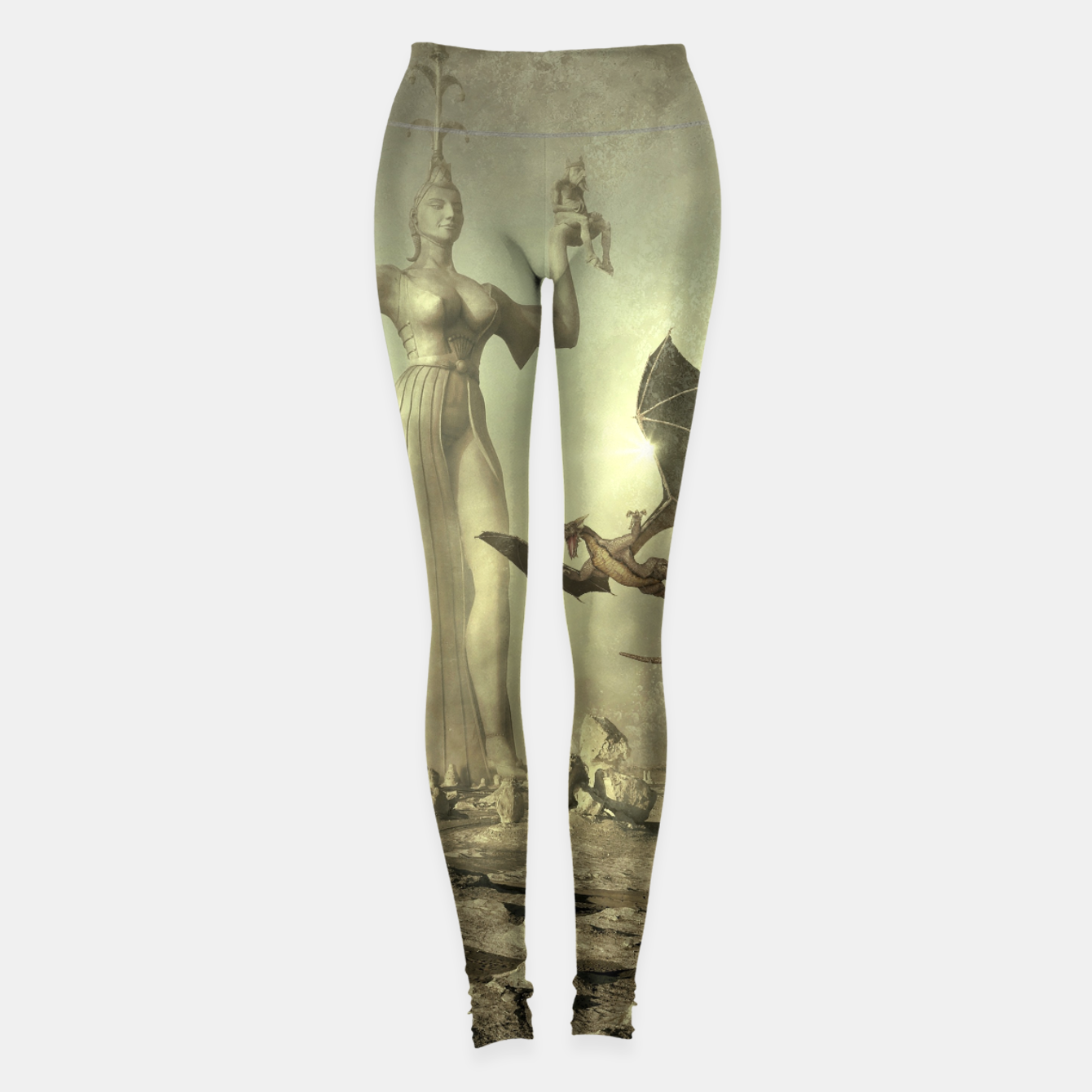 Image of The Mother of Dragons - Fantasy Fairy Tales Leggings - Live Heroes