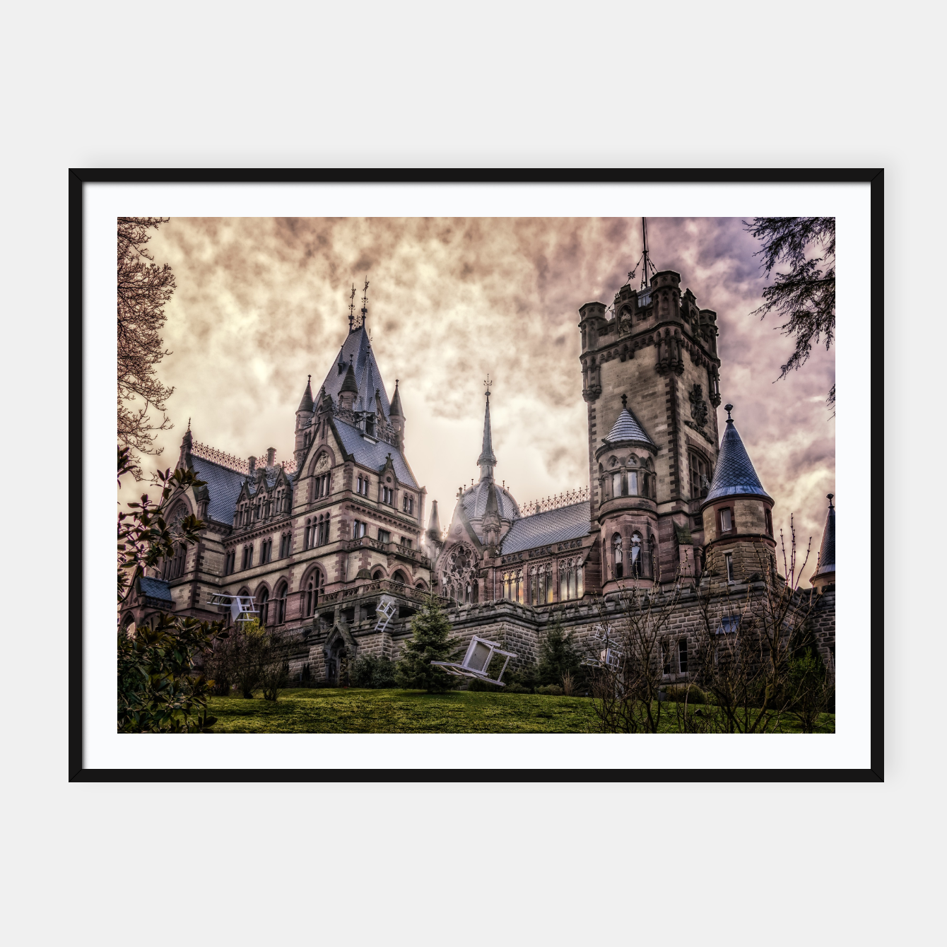 Image of Magic Musical Chairs - Fantasy Fairy Tales Framed poster - Live Heroes