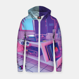 Thumbnail image of spinningwave Cotton zip up hoodie, Live Heroes
