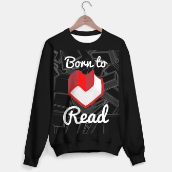 Thumbnail image of Born to Read Sweater regular, Live Heroes