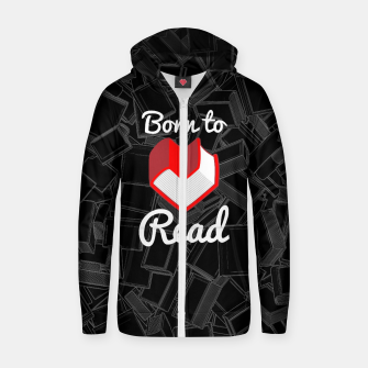 Born to Read Cotton zip up hoodie thumbnail image