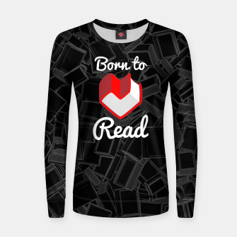 Born to Read Woman cotton sweater thumbnail image
