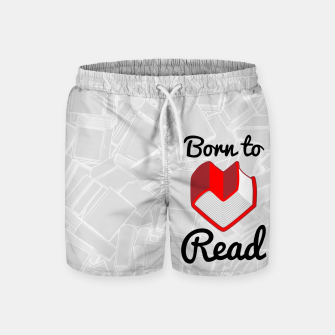 Thumbnail image of Born to Read II Swim Shorts, Live Heroes