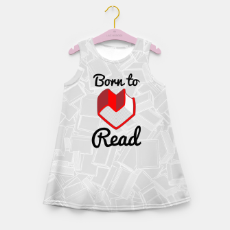 Thumbnail image of Born to Read II Girl's summer dress, Live Heroes