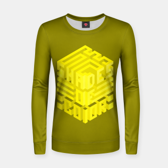 Thumbnail image of Shades ISO Yellow Woman cotton sweater, Live Heroes