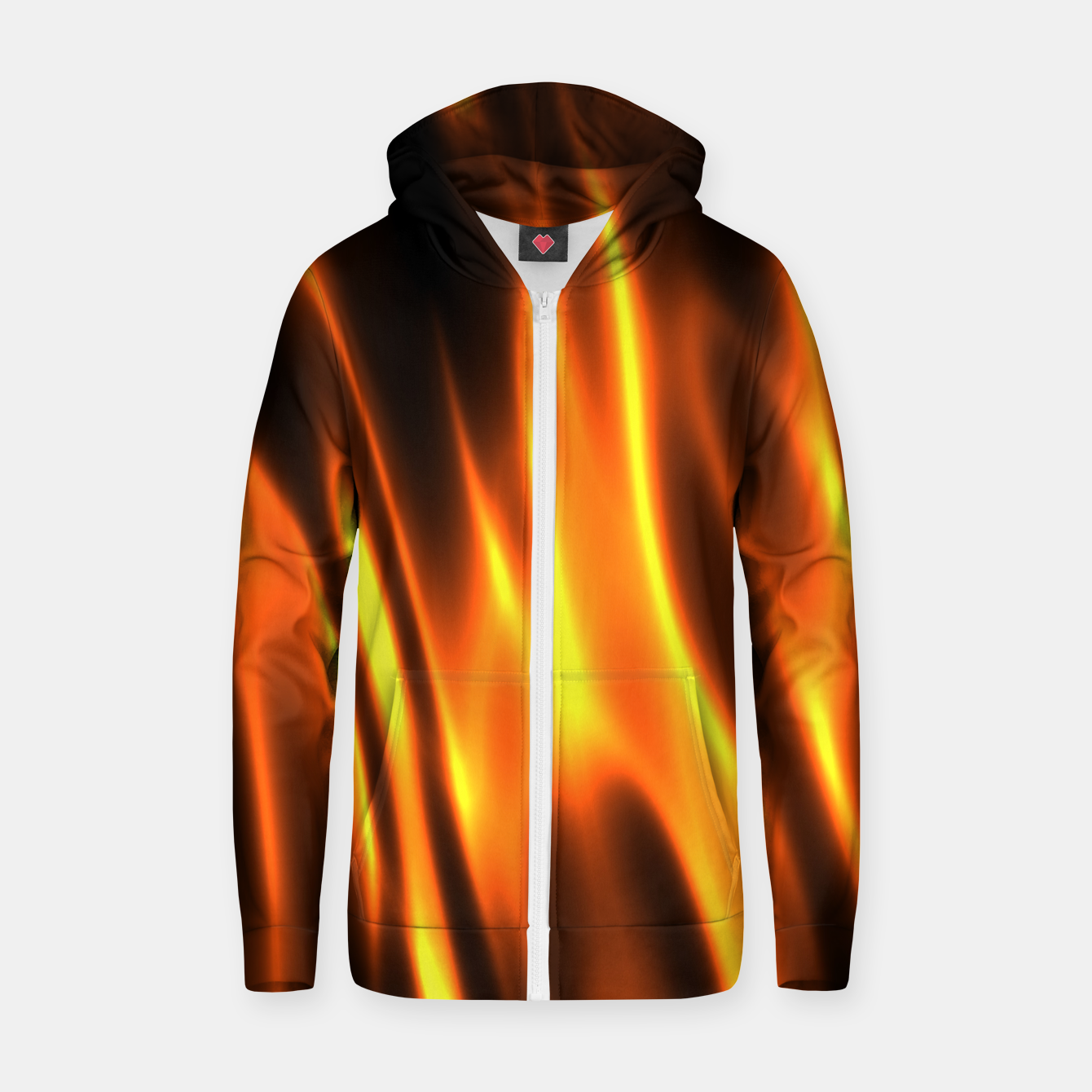 Foto Hot Fire Flames Cotton zip up hoodie - Live Heroes