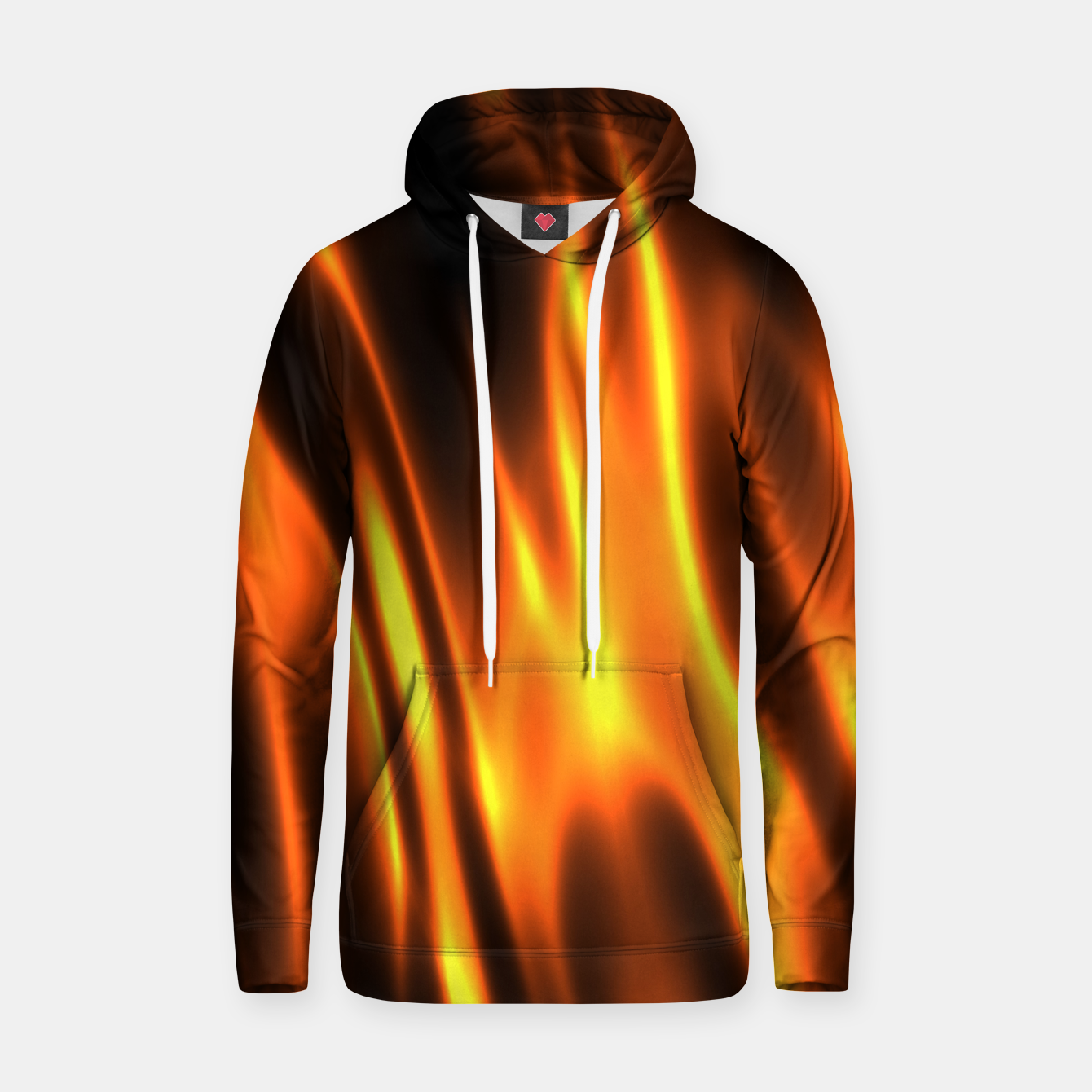 Foto Hot Fire Flames Cotton hoodie - Live Heroes