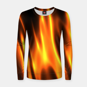 Hot Fire Flames Woman cotton sweater Bild der Miniatur