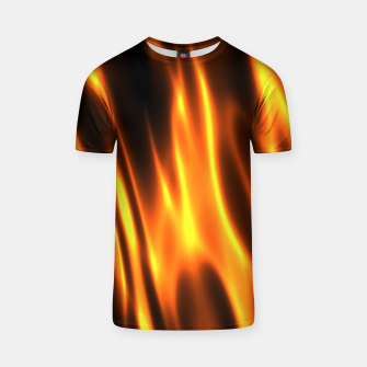 Hot Fire Flames T-shirt Bild der Miniatur