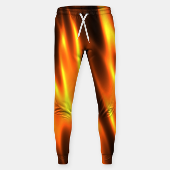 Hot Fire Flames Cotton sweatpants Bild der Miniatur