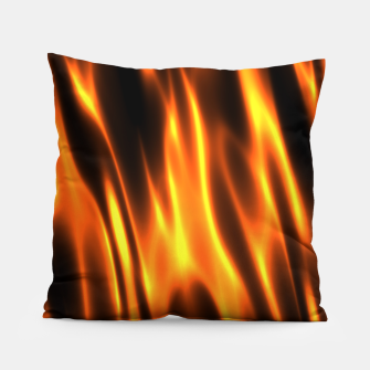 Hot Fire Flames Pillow Bild der Miniatur