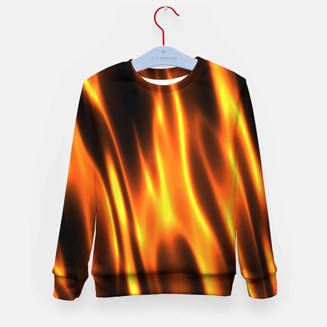Foto Hot Fire Flames Kid's sweater - Live Heroes