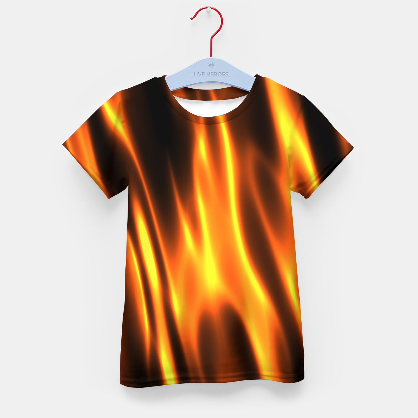 Foto Hot Fire Flames Kid's t-shirt - Live Heroes