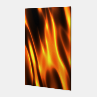 Hot Fire Flames Canvas Bild der Miniatur