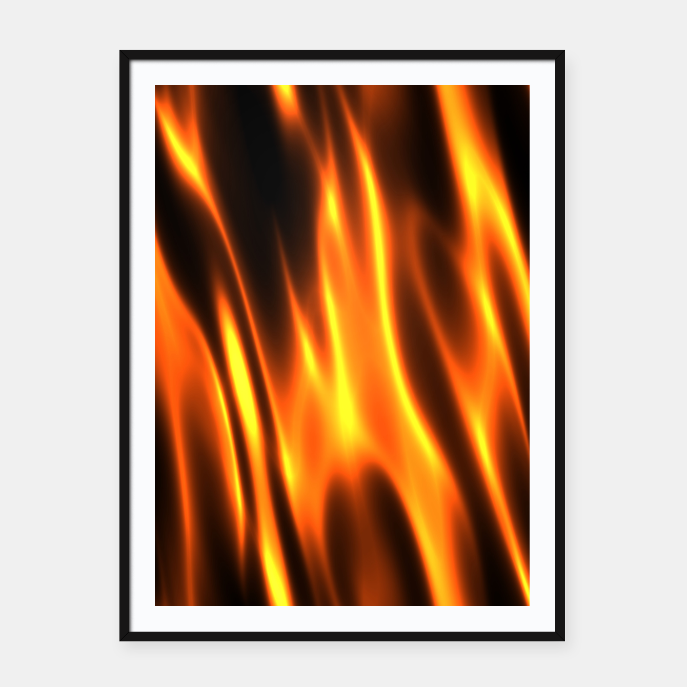 Foto Hot Fire Flames Framed poster - Live Heroes