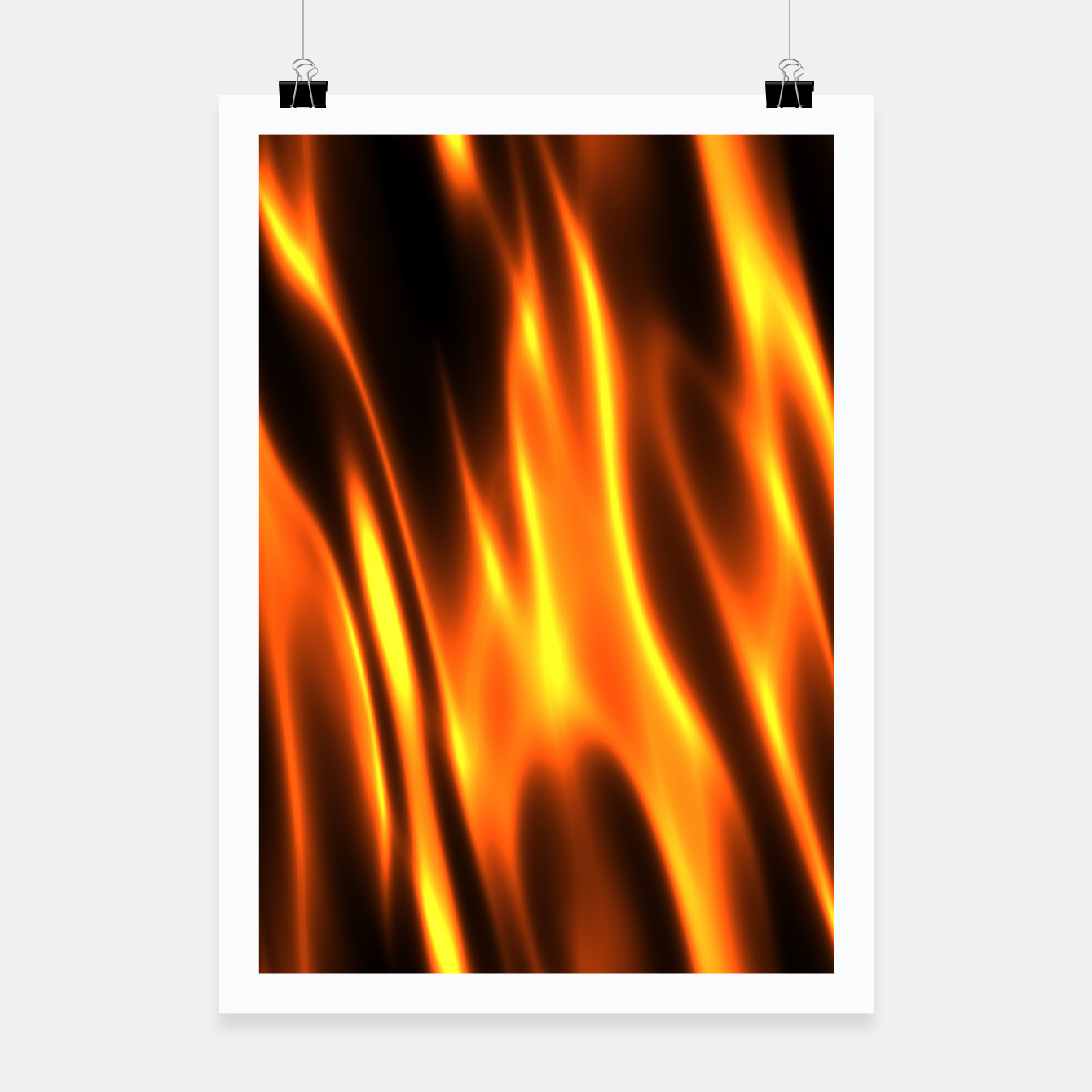 Foto Hot Fire Flames Poster - Live Heroes