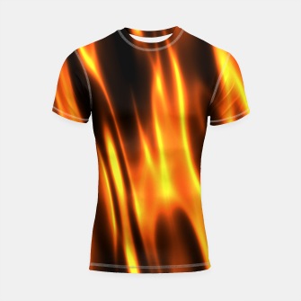 Hot Fire Flames Shortsleeve rashguard thumbnail image