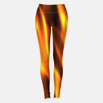 Hot Fire Flames Leggings Bild der Miniatur