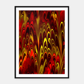 Thumbnail image of Marbled Red Fountain Framed poster, Live Heroes